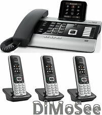 """►► Gigaset DX800A VoIP - ISDN - Analog """"All in one"""" + 3 Mobilteile S850HX ◄◄"""