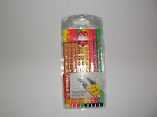 New STABILO Pen 68 Fluorescent and Point 88 Neon mixed Wallet of 10 (5 of each)