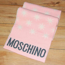 100% Authentic MOSCHINO Pink&Cream Wool Womans Scarf