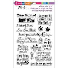 New stampendous RUBBER STAMP clear Acrylic DOG SAYINGS SET FREE US SHIP