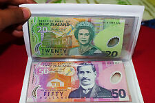 New Zealand 5 Polymer 2001 Low Matching S/N Set 000085 $5-10-20-50-100 UNC