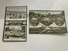 2 Vintage Postcards. Featuring Weston Super Mare. Colour. Used.