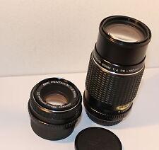 SMC PENTAX-M 75-150mm F4 & SMC PENTAX-M 50mm F2 LENSES, FILM/DIGITAL PENTAX SLRs