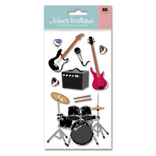Band Music Guitar Drums Bass Microphone Rock N Roll Concert Jolee's 3D Stickers
