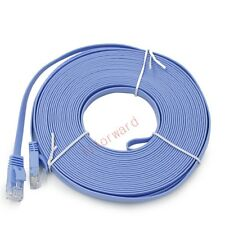 15M 49FT Cat 6 Ultra-Thin Flat RJ45 Ethernet Internet Network Lan DSL Xbox Cable