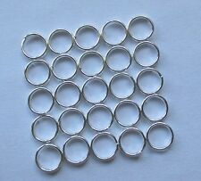 25 pcs 6mm Silver Plated Double Loops Open Jump Rings Split rings