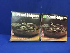 "LOT OF 2 Corning Plant Helper PH-7-S Tinted glass 7"" base saucer only FREE SHIP"