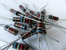 20 x Kohlemasse Widerstand 6.9 KOhm, 1 W, Carbon Comp Resistors
