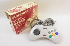 Sega Saturn Official Controller Pad WHITE HSS-0101-S Ref/10404 Boxed SS Japan