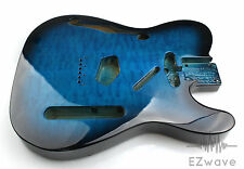 Blue Burst Quilted Top Veneer Semi Hollow Guitar Body for Thinline Tele