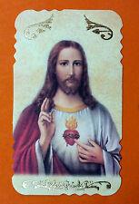 SANTINO SACRO CUORE DI GESU'  IMAGE PIEUSE - HOLY CARD-  Heiligenbild