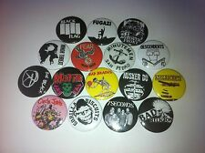 16 Punk badges fugazi minutemen bad brains misfits husker du big black flag
