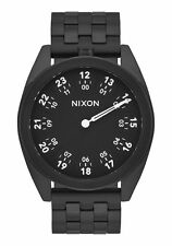 New Nixon A920001 Genesis All Black Men's One Hand Watch