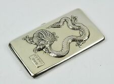 200 G. ANTIQUE CHINESE EXPORT STERLING SILVER CIGARETTE CASE BOX DRAGON