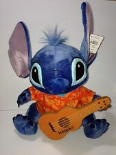 "NEW Disney Store Hawaii Exclusive STITCH Ukulele Hawaii Plush Doll Toy 16.5"""