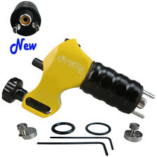 New Stigma Beast Rotary Tattoo Machine Gun -Clone-3 Stroke Excenters Yellow