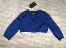 NWT Authentic Fendi Girl's Blue Button Down Dressy Sweater Cardigan (Size 6)