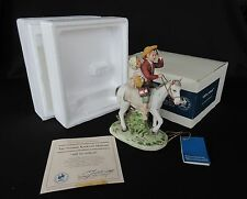 'Off To School' by Norman Rockwell Museum 1981 Figurine In Original Box