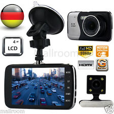 "4"" Auto Dual Kamera Full HD 1080P Dashcam Recorder Car DVR Überwachung G-Sensor"
