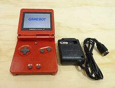 Nintendo Game Boy Advance GBA SP Flame Red System AGS 101 Brighter MINT NEW