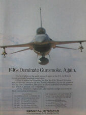 12/1989 PUB GENERAL DYNAMICS USAF F-16 FIGHTING FALCON GUNSMOKE TFG TFW AD
