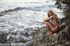 Elsa Hosk  blonde model beach scene picture   8x10 photo 1
