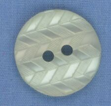 18mm Off White 2 Hole Button