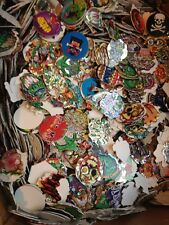 Lot of 25 Pogs Milk Caps Tazos with Jagged Edges 90s Nineties Toys
