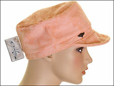 Bnwt Woman's Oakley Twist Military Hat Cap Beanie Logo Front New Peach New M/L