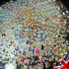 UK , 50 Sheets 3D Nail Art Stickers Manicure Tips Mix  Decals