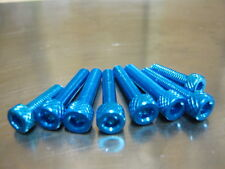 Fuel Cap Bolt Kit for Kawasaki Z 750 & Z 750 R, 2004 onwards,blue anodised bolts