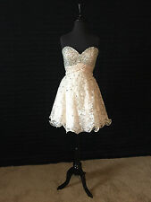 Prom, Party, Formal Occasion Mori Lee Dress - Champagne - 9242