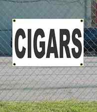 2x3 CIGARS Black & White Banner Sign NEW Discount Size & Price FREE SHIP