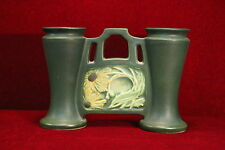 Roseville Rosecraft Panel Vase Green