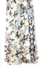 SCARF Long Sheer Chiffon Ivory Background Pretty Colors FLYING BUTTERFLIES