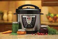 NEW Electric Power Pressure Cooker XL 8Qt Slow Cooker/Canner Canning Book Recipe