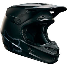 Fox Racing V1 Off Road MX Helmet Solid Matte Black Medium MD Closeout