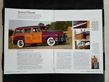 1949 Plymouth P-18 Woody Special Deluxe Station Wagon - 4 Page Article