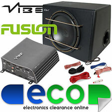 "MUTANTE 12"" 500w SUBWOOFER SUB AUTO BASS BOX + Vibe 1000 Watt Amplificatore AMP Kit"