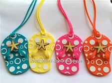Multicolor Starfish Flip Flop Luggage Tags ID Tag Purse Backpack Diaper Bag USA