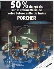Publicité Advertising 1983 La robinetterie Porcher