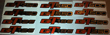 SUZUKI GT125 GT185 GT250 GT500 GT550 GT750 GT SIDE PANEL DECALS X 2