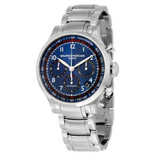 Baume and Mercier Blue Dial Chronograph Stainless Steel Mens Watch 10066