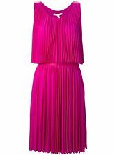 NWT Halston Heritage Sequin Petunia Embellished Pleated Crepe Dress Sz XL  $385