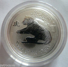 2010 Australian Perth Mint Lunar Year of the Tiger 1/2 oz .999 Silver  Coin