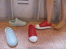 Ken Doll Clothes Fashion Acc~White Red Converse Style Chuck Taylor Tennis Shoes