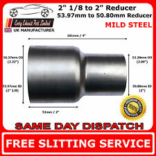 54mm to 50mm Mild Steel Standard Exhaust Reducer Connector Pipe Tube