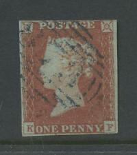 PENNY RED IMPERF Pl.86 KF 4 MARGINS BLUE NUMERAL cv£180