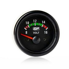 "Brand New 2"" 52mm Black Car Smoke Tinted 8-16V Volt  Gauges Meters Voltages"