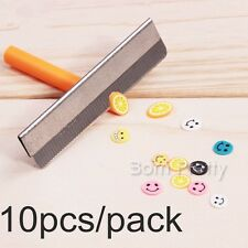 10pcs Safety Nail Art Platinum Coated Edge Cutter Blades For Fimo Canes Rods